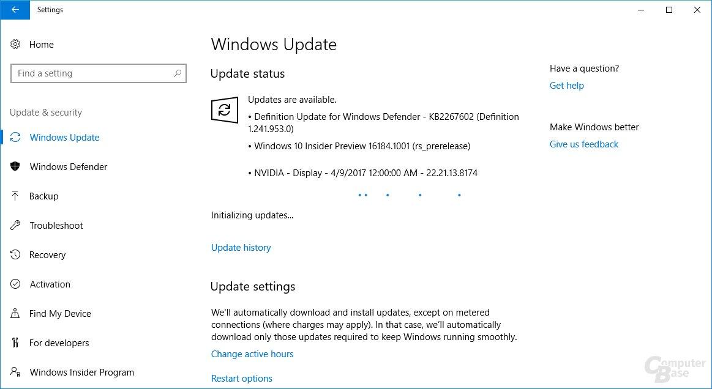Nvidia GeForce 381.74 für Windows 10 Insider Preview
