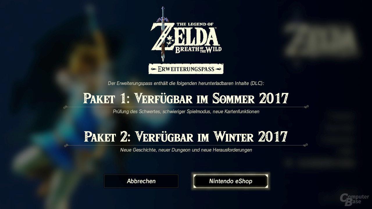 Download-Bildschirm für DLC innerhalb des Spiels