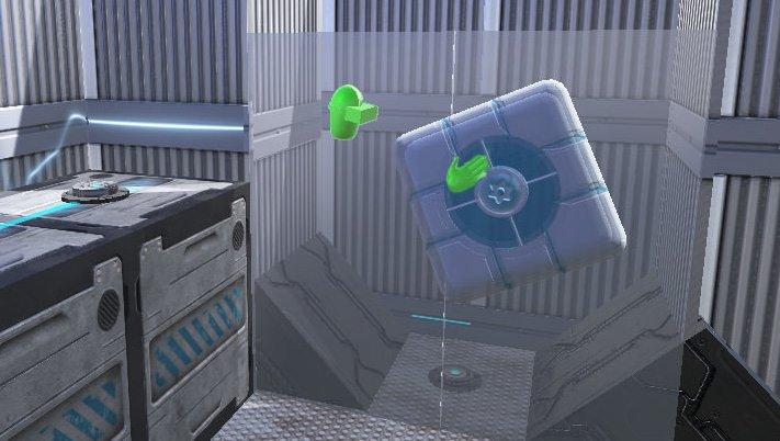 Würfel können über Glaswände geworfen werden