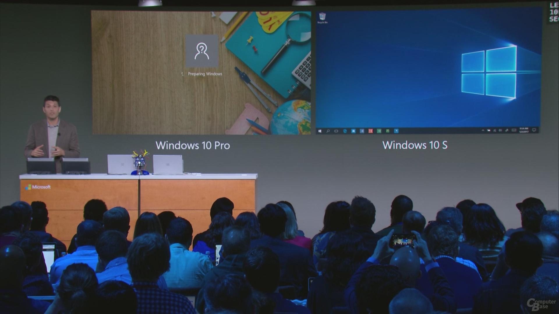 Windows 10 S hat eine schnellere Erstanmeldung