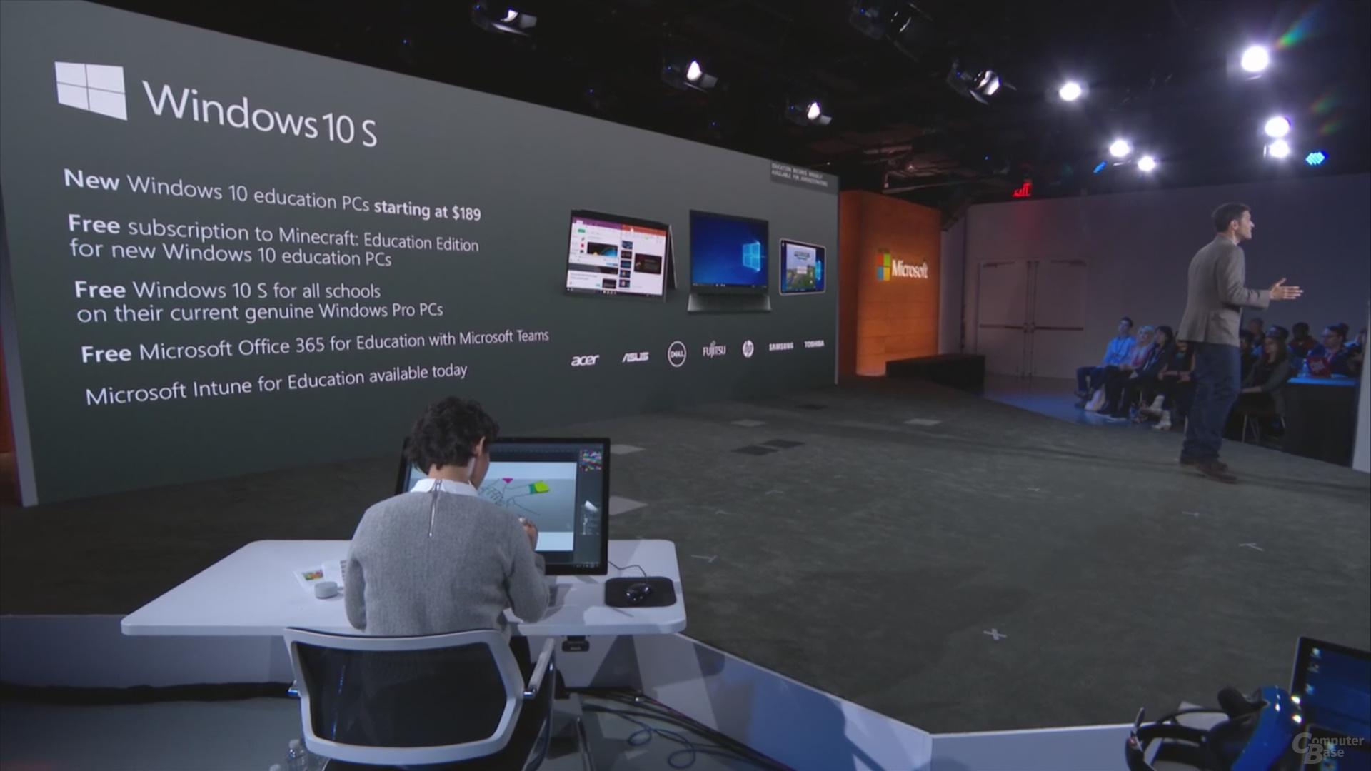 Windows 10 S startet zusammen mit kostenlosen Diensten