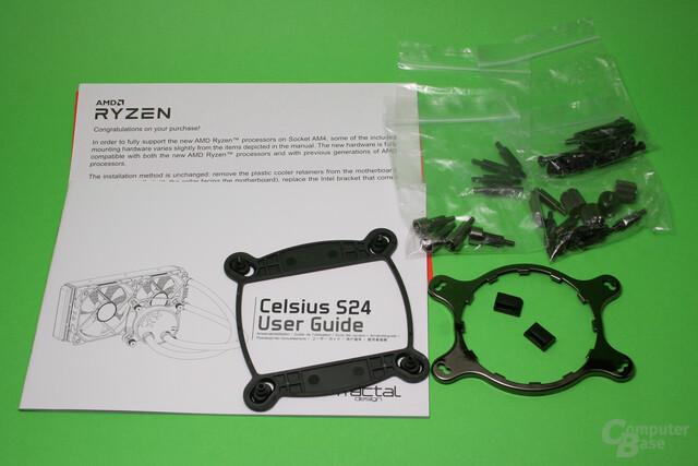 Fractal Design Celsius S24: Lieferumfang