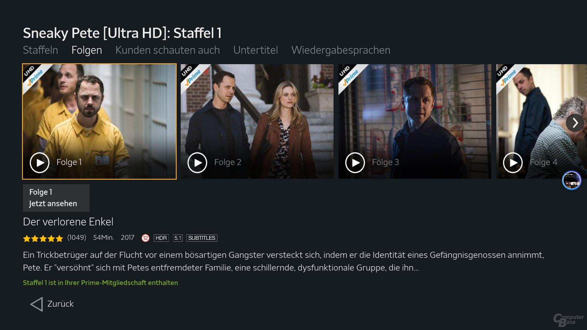 Amazon Video HDR
