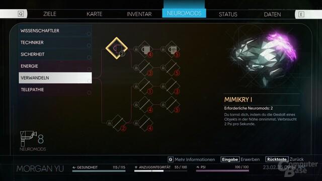 Blick auf die Modifikationen