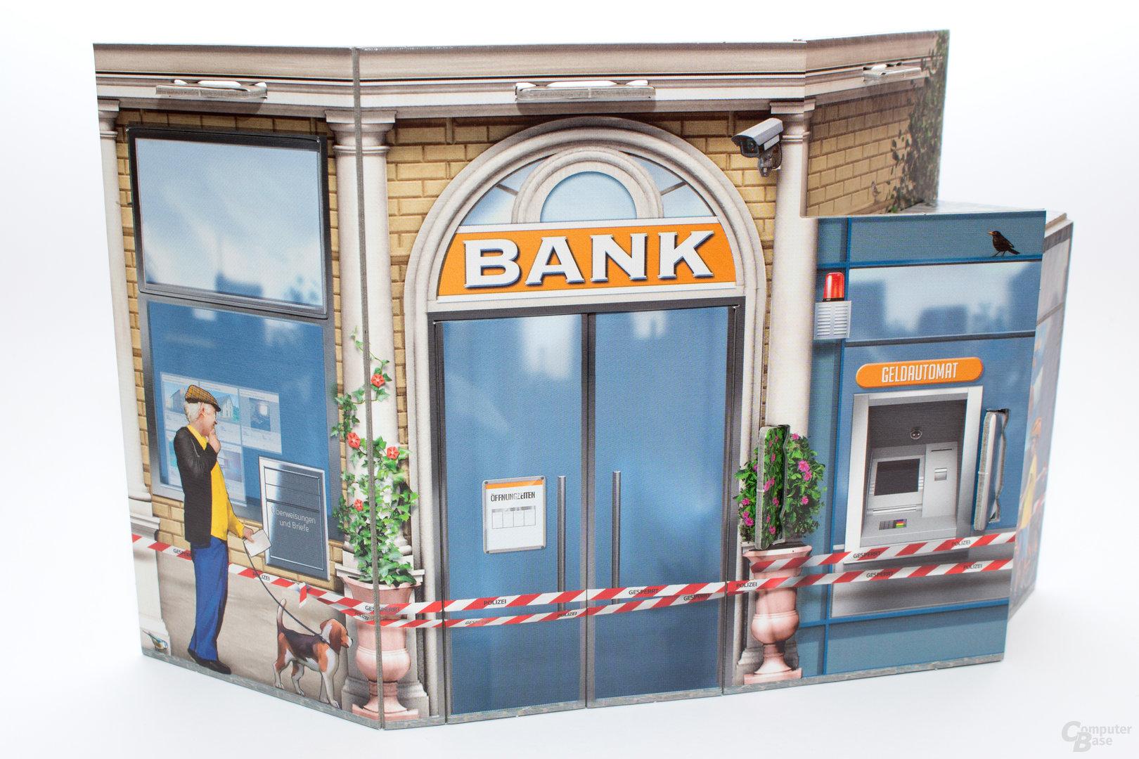 Per Übungseinsatz zum Bankeinbruch