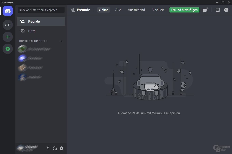 Discord – Menü: Mischung aus Skype und TeamSpeak
