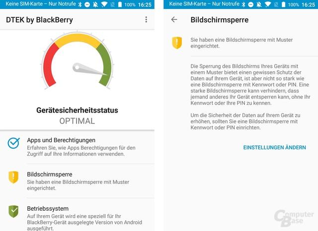 Die DTEK-App kommt mit sinnvollen Beschreibungen für mehr Sicherheit