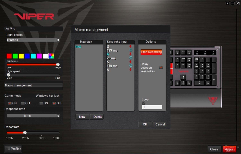Der Makro-Editor ist funktional, aber hakelig zu bedienen