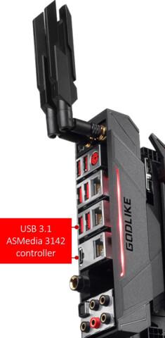 MSI Z270 Godlike Gaming mit ASM3142