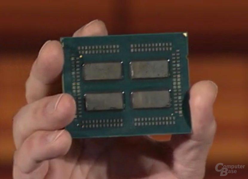 AMD Epyc: Naples ohne Heatspreader zeigt 4-Die-Multi-Chip-Design