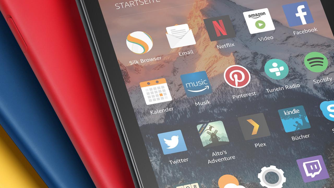 Amazon: Fire 7, HD 8 und Kids Edition mit geringen Änderungen