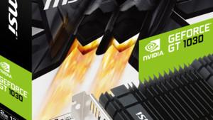 GeForce GT 1030: MSI bringt gleich sechs Modelle im Einsteigermarkt