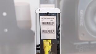 Google Lens erkennt SSID und Passwort ...