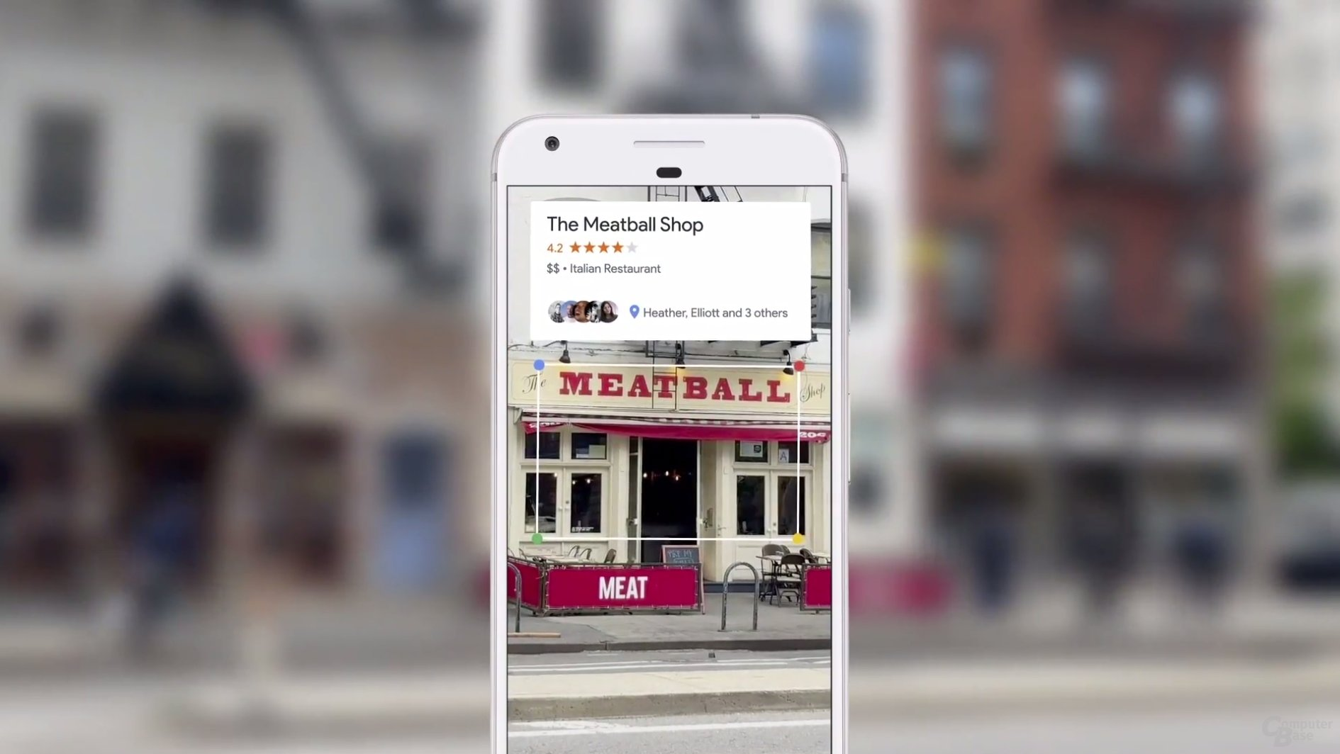Google Lens erkennt Restaurants