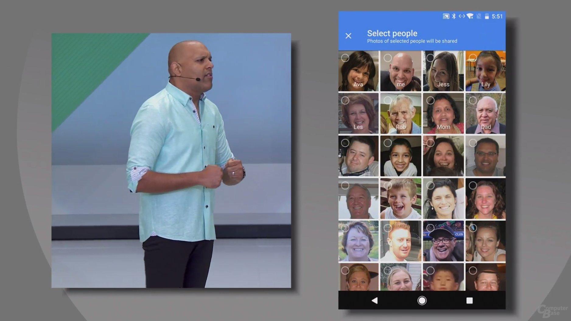 Fotos ausgewählter Personen automatisch teilen