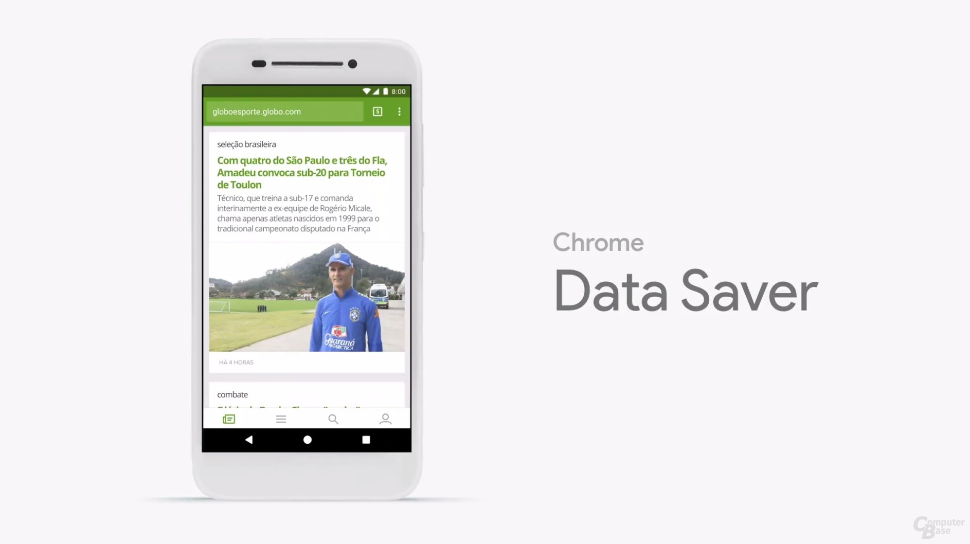 Data Saver in Chrome ist standardmäßig aktiviert
