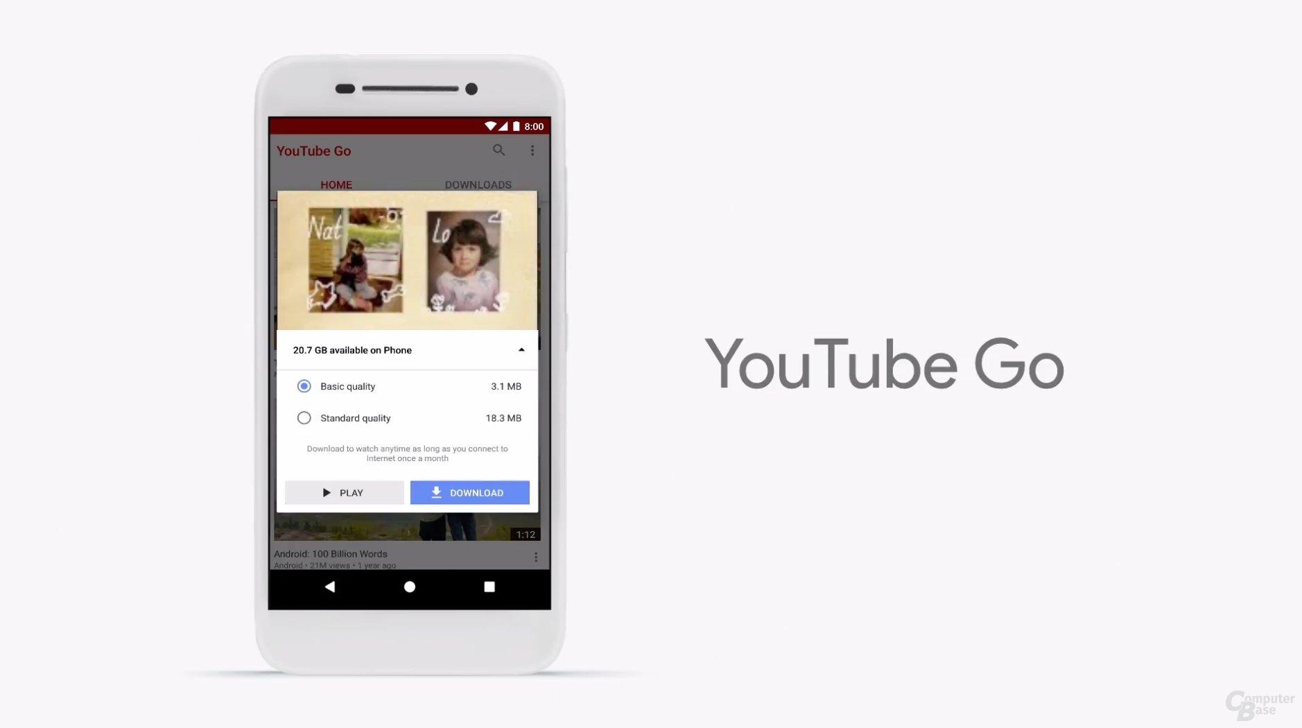YouTube Go mit Offline-Modus
