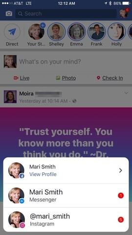 App-übergreifende Benachrichtigungen in der Facebook-App