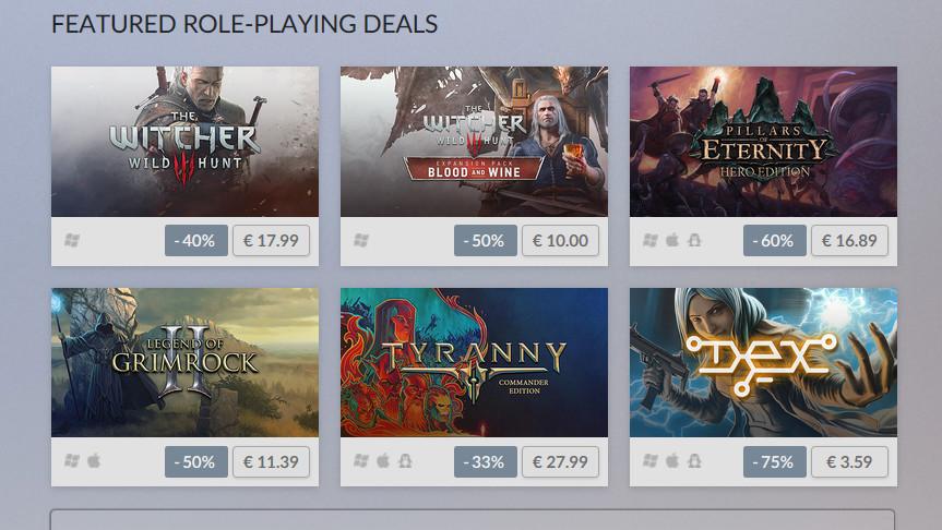 GOG.com: Role-Playing Week senkt Witcher und Co. im Preis