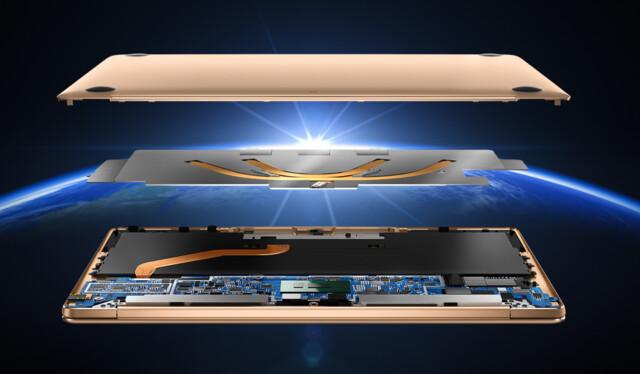 Die Kühlung im MateBook X ist laut Huawei außergewöhnlich