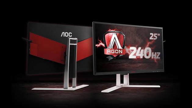 Agon AG251FG: AOC bietet 240-Hz‑Monitor nun auch mit G-Sync