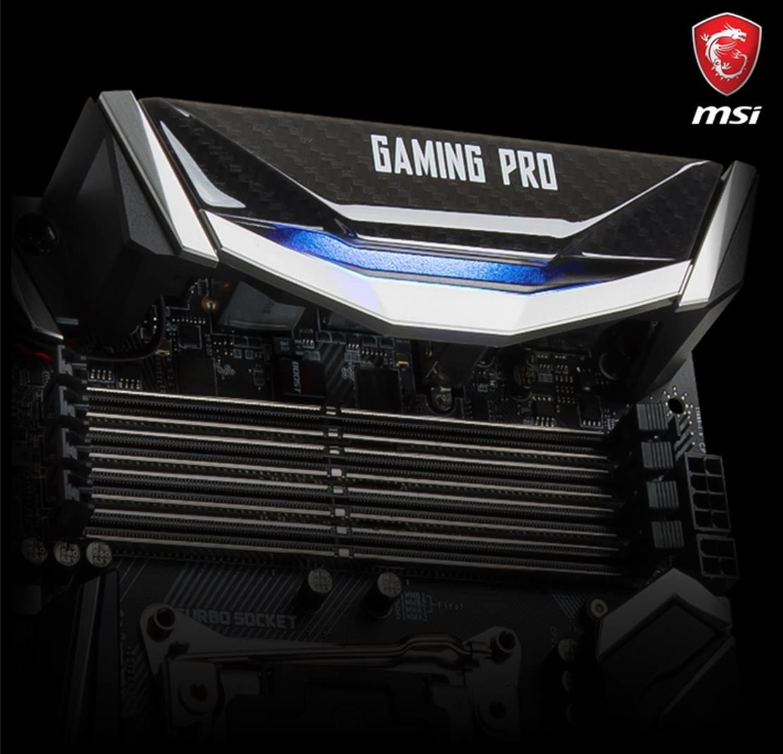 MSI Gaming Pro offenbart vier RAM-Slots beim I/O-Panel