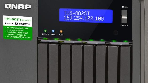 QNAP TVS-882ST3: Acht 2,5-Zoll-Schächte, 10-Gbit-LAN und TB 3 im NAS