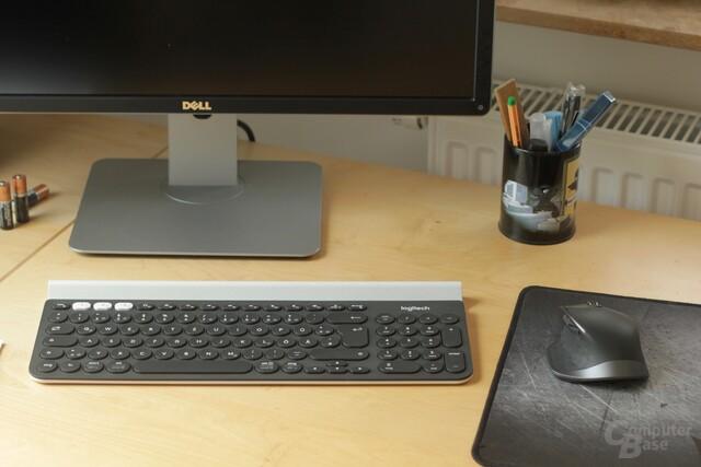 Logitech Flow macht auch mit Maus und Tastatur eine gute Figur