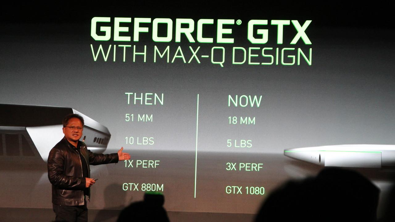 Max-Q: Nvidia will die GeForce GTX 1080 im 18-mm‑Notebook
