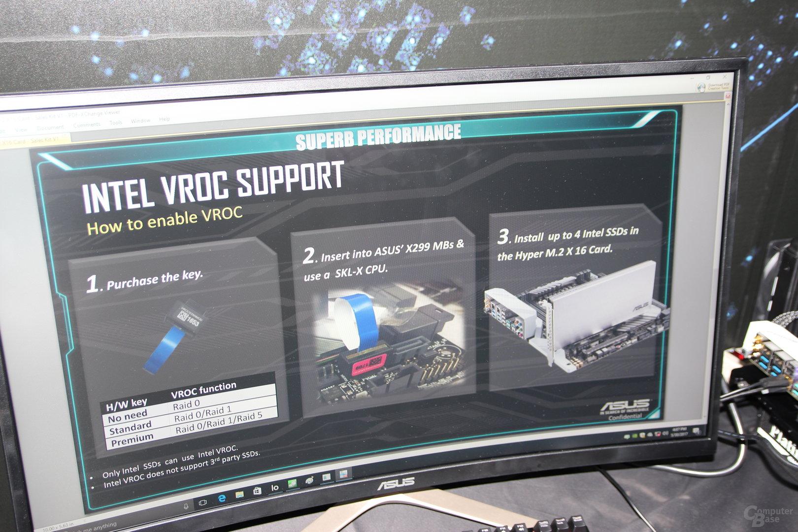 Intel VROC: Standard-Key und Premium-Key für mehr RAID-Modi