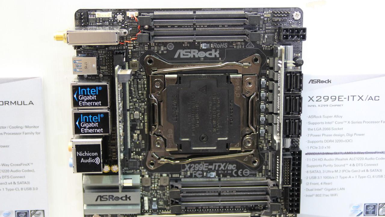 X299-Mainboards: ASRock bannt Riesensockel erneut aufMini-ITX