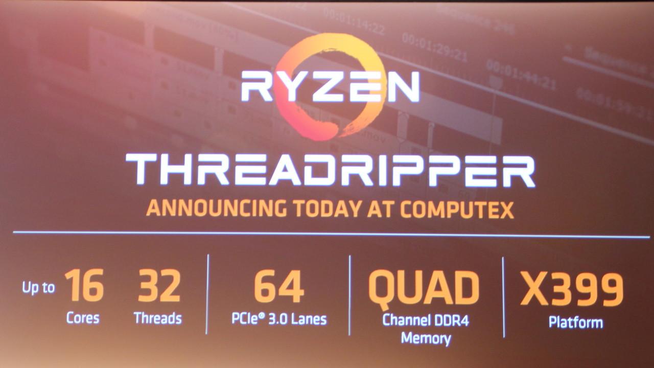 AMD Ryzen Threadripper: 64 PCIe-Lanes und Unterstützung für 2 TByte RAM
