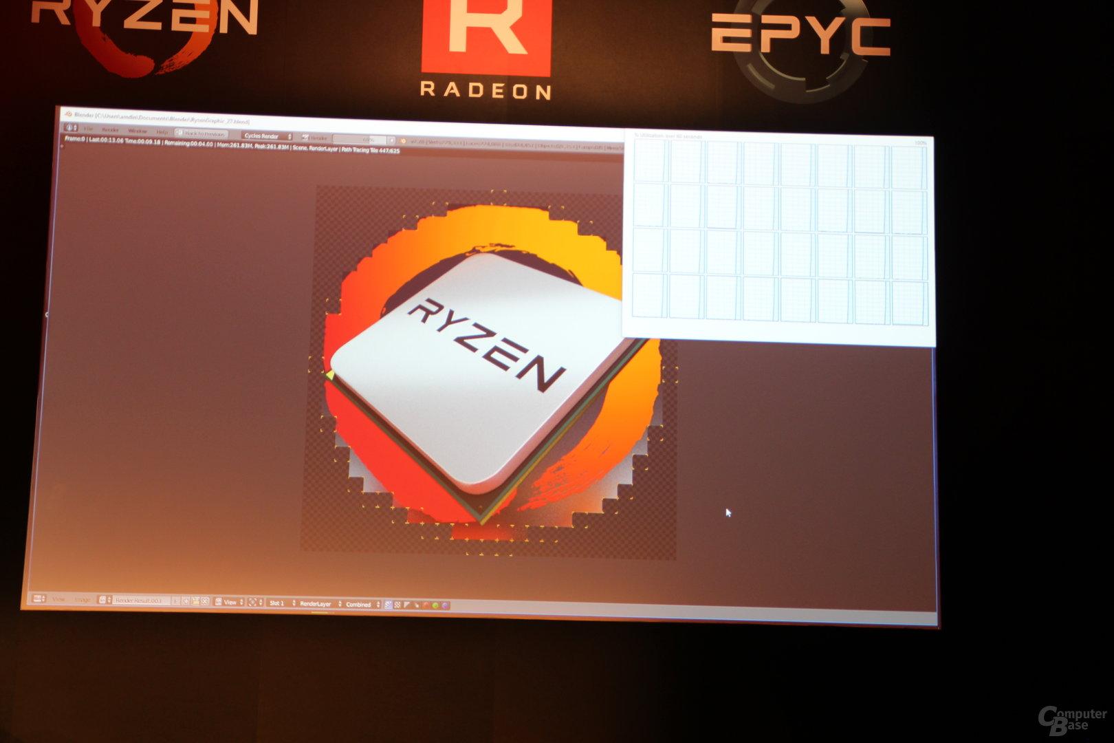 AMD Ryzen Threadripper in Blender