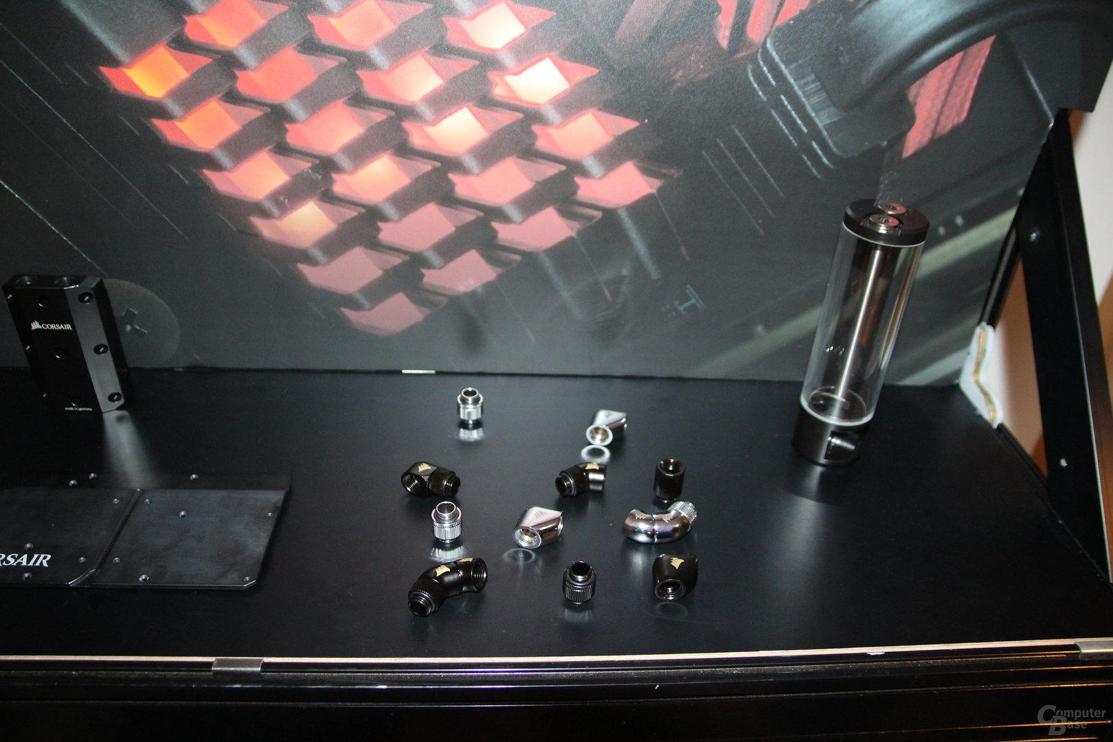 Corsair-DIY-Wasserkühlung: Adapter und Ausgleichsbehälter