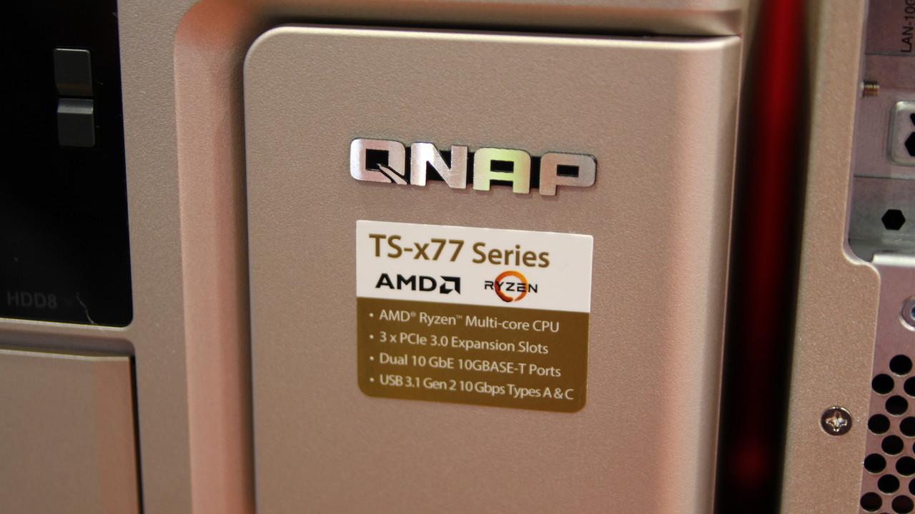 QNAP TS-x77: AMD Ryzen 7 kommt ins NAS