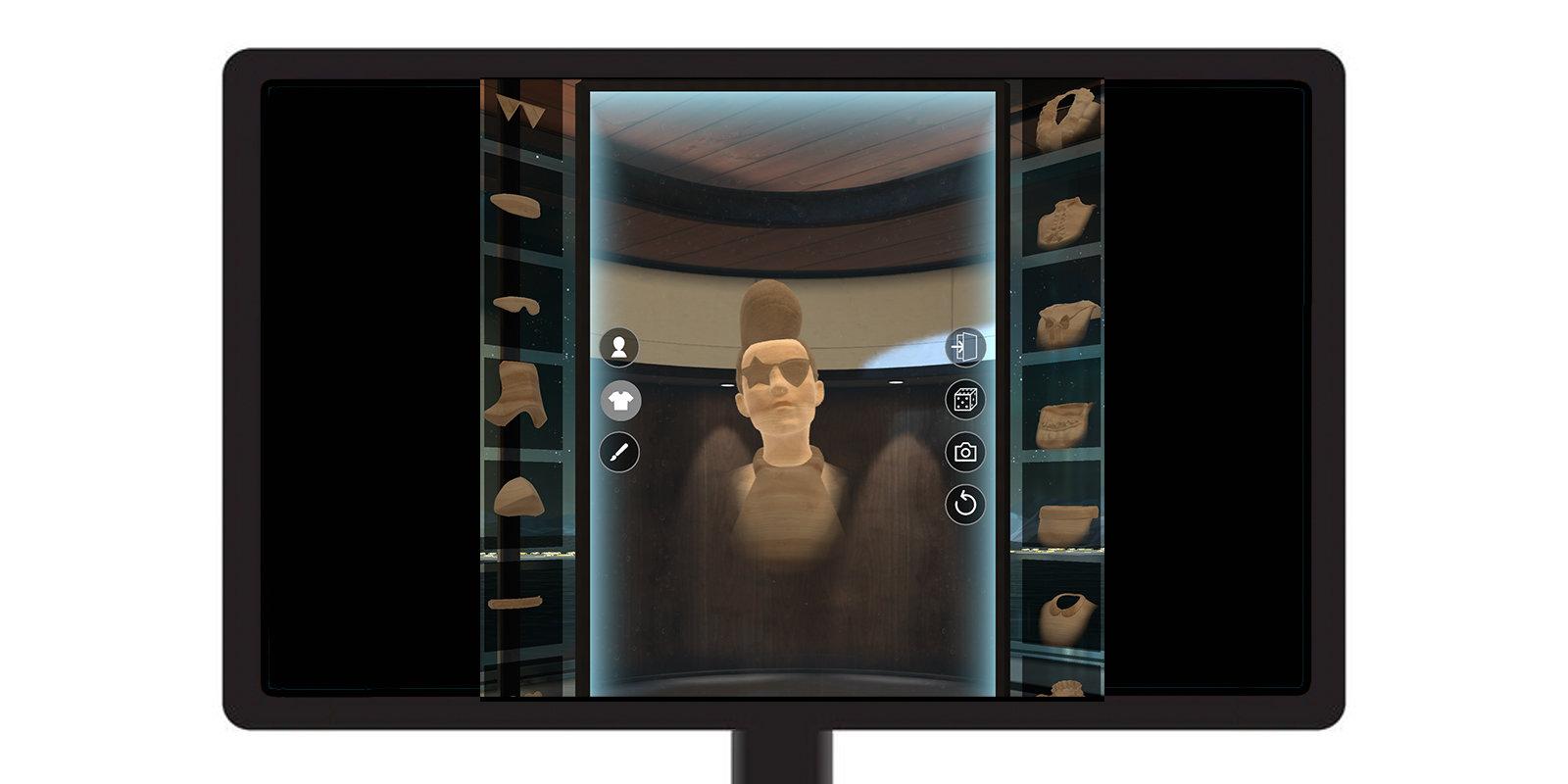 GearVR auf dem Monitor