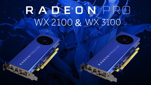 Profi-Grafikkarten: AMD enthüllt Radeon Pro WX 2100 und WX 3100