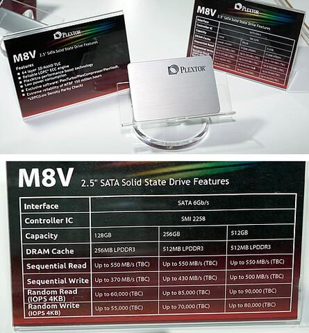 Plextor M8V mit 3D-NAND und SATA