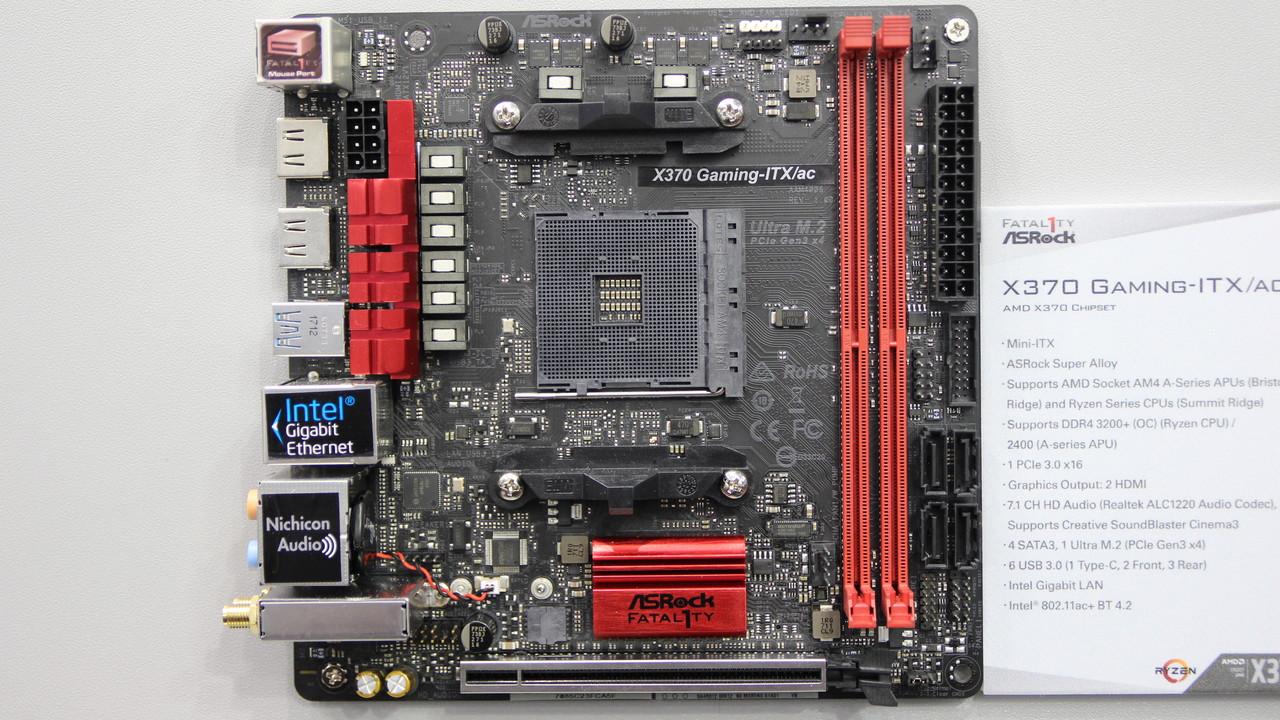 Mini-ITX für Ryzen: ASRocks kleine AM4-Zwillinge mit X370 und B350