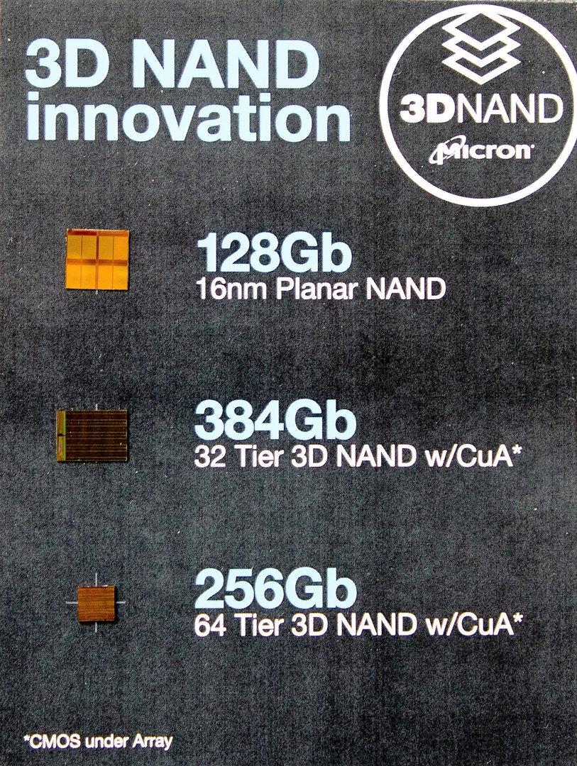 Micron demonstriert wie winzig der neue 3D-NAND ist