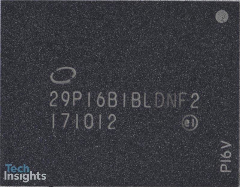 Ein Chip-Gehäuse (Package) des Intel Optane Memory (16 GB)