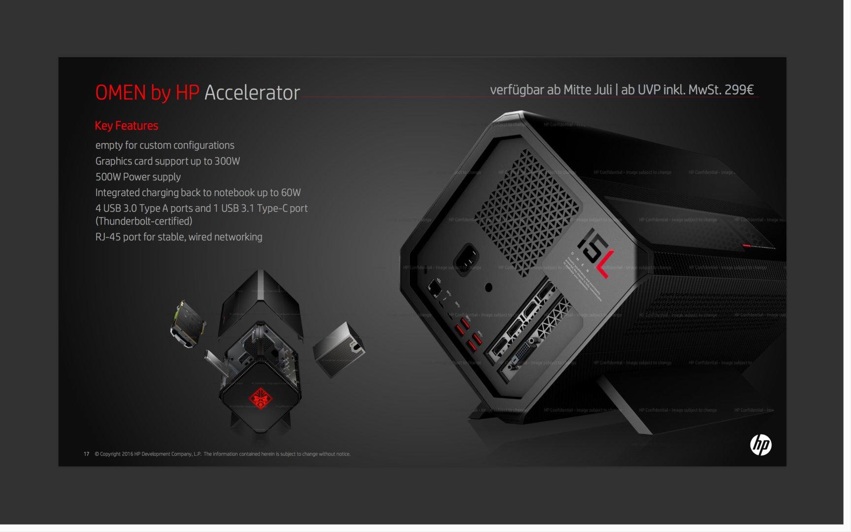 HP Omen Accelerator mit 5 x USB 3.0 und Ethernet