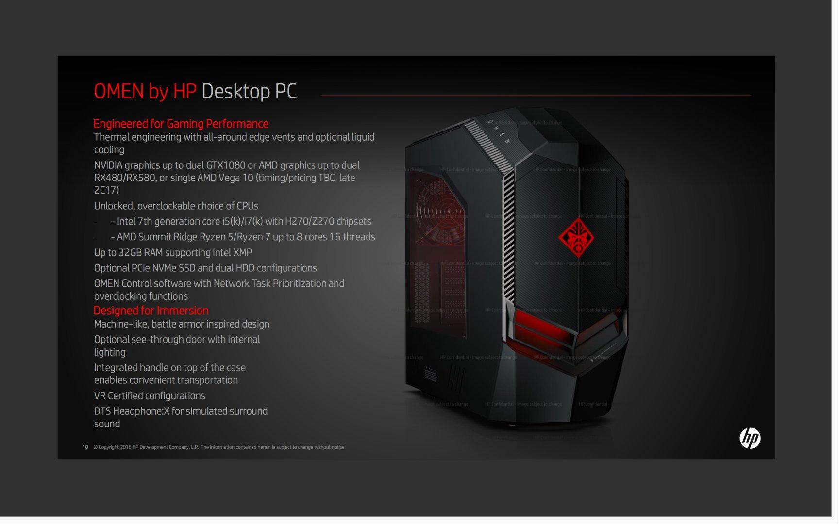 HP Omen Desktop mit CPUs von Intel oder AMD