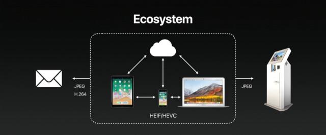 Außerhalb des Apple-Ökosystems kommen H.264 und JPEG zum Einsatz