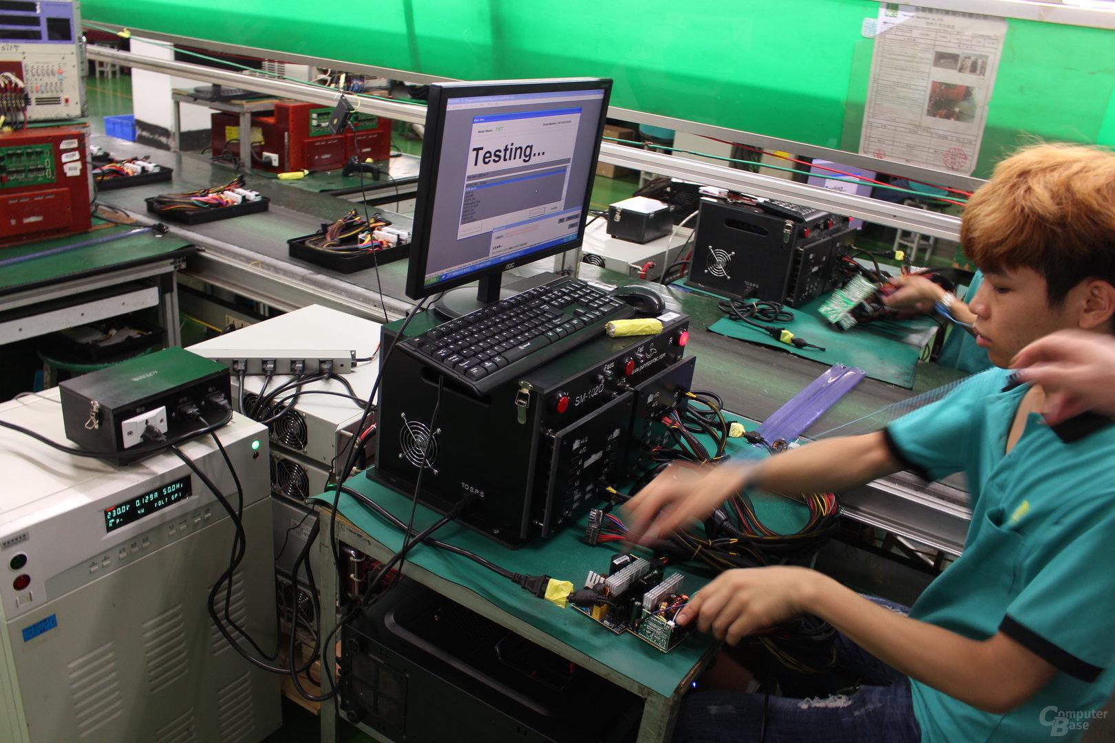 Elektronische Lasttests für erste Funktionskontrolle