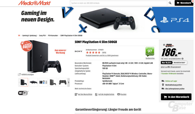 PlayStation 4 Slim 500 GB im Angebot