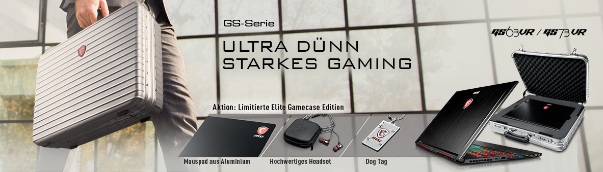 MSI GS63VR- und GS73VR-Stealth-Pro in der Elite Gamecase Collector's Edition