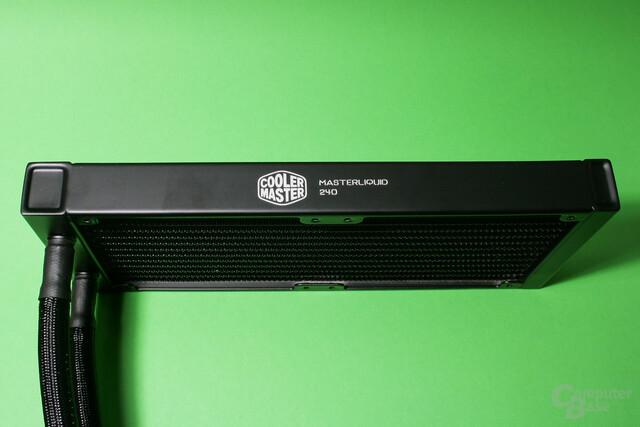 Cooler Master Masterliquid 240: Radiator mit Herstellerlogo