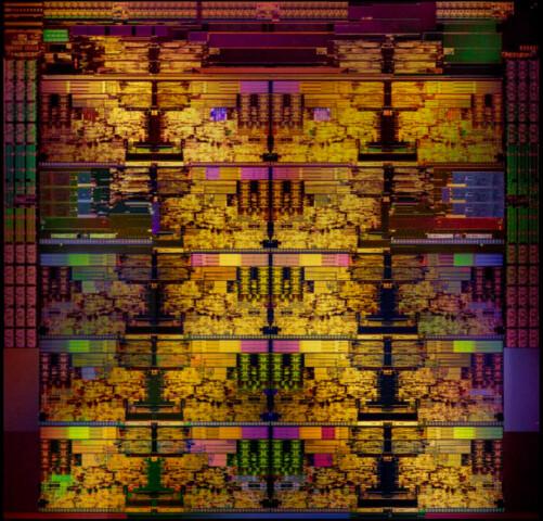 Bearbeiteter Die-Shot von Intels 18-Kern-CPU