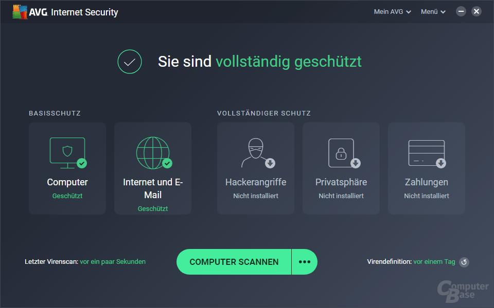 AVG Internet Security – Oberfläche